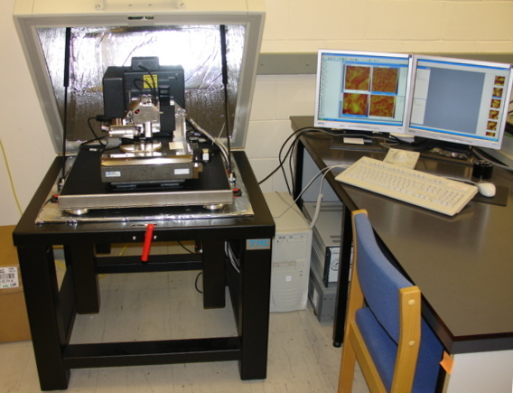 Atomic Force Microscope by Zureks, own work (attribution from Wikipedia)