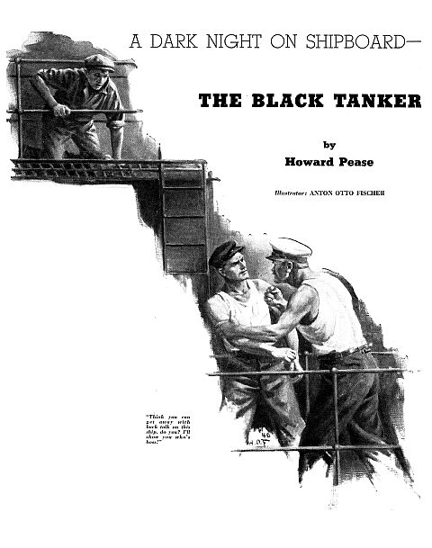 "January 1941 Cover American Boy ""The Black Tanker"" Howard Pease"